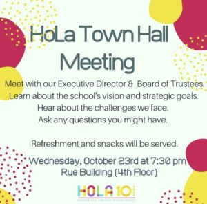 First Annual HoLa Town Hall Meeting @ Rue Building (4th Floor)